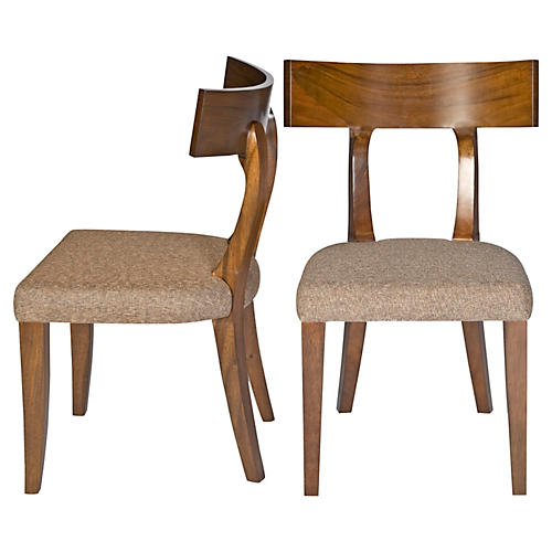 Wheat Live Side Chairs, Pair