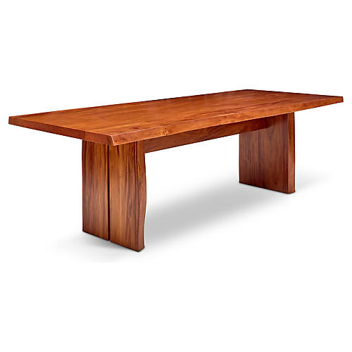 "Lee 95"" Live Edge Dining Table, Natural"