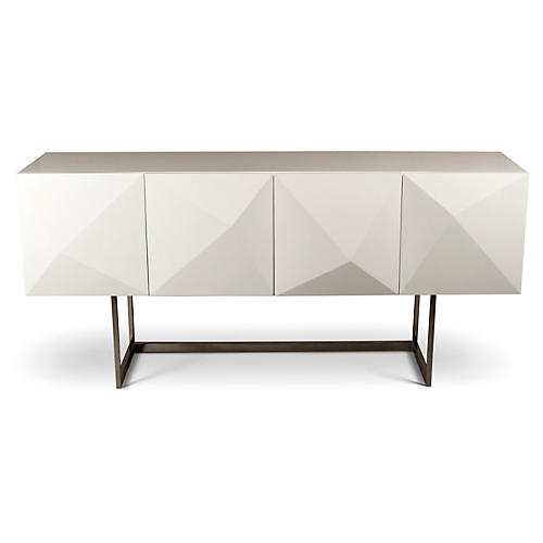 "Cube 71"" Buffet, White"