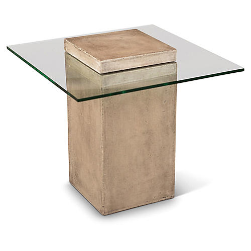 Milan Side Table, Gray Concrete