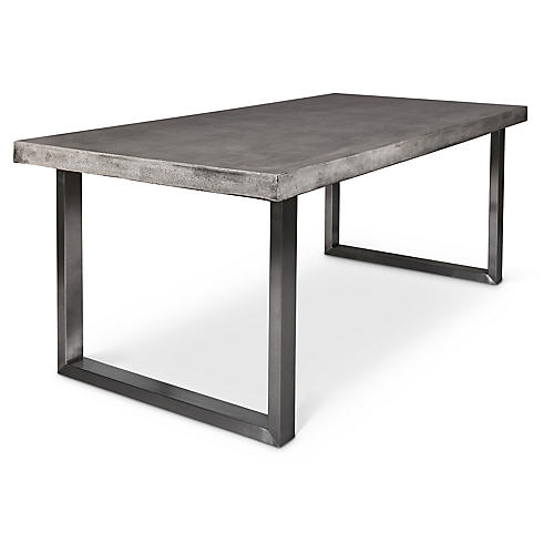 "Miller 83"" Dining Table, Concrete"