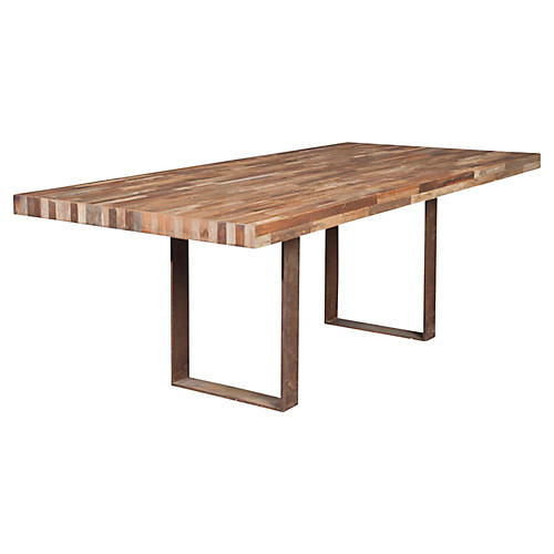 """Planque 84"""" Dining Table, Natural"""