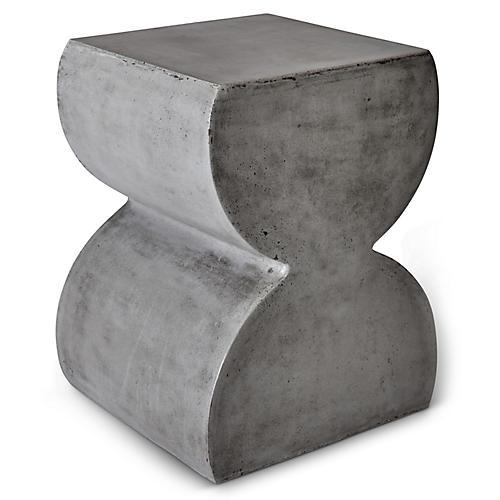 Harper Stool, Dark Gray Concrete