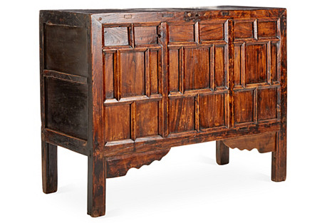 Dorian Cabinet, Natural Wood