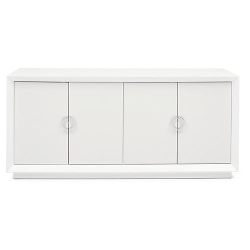 Monroe Sideboard, White/Silver
