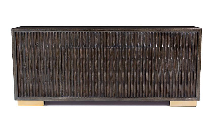 Madison Sideboard, Brown/Brass