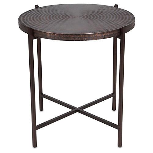 Sanskrit Side Table, Antique Copper