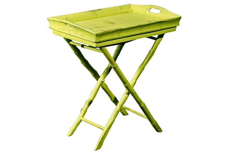 Butler Tray Table, Lime Green