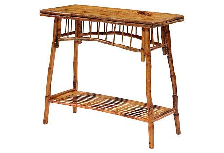 Flynn Side Table, Antiqued Tortoise