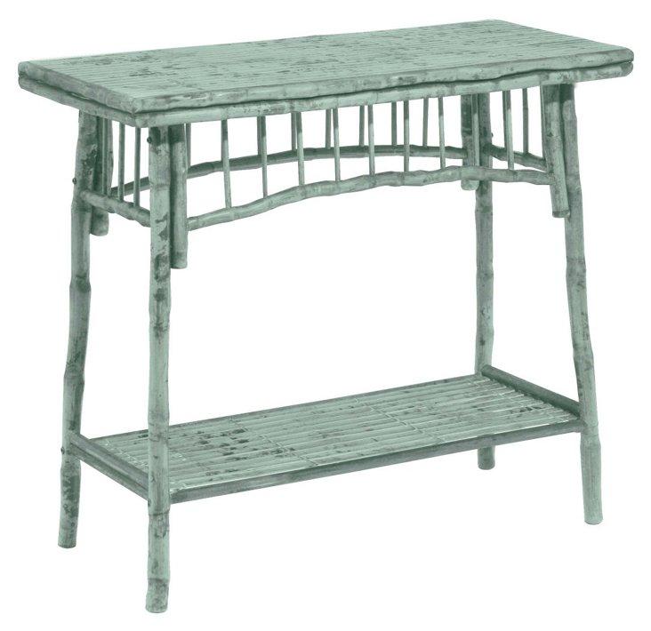 Flynn Side Table, Dusty Aqua