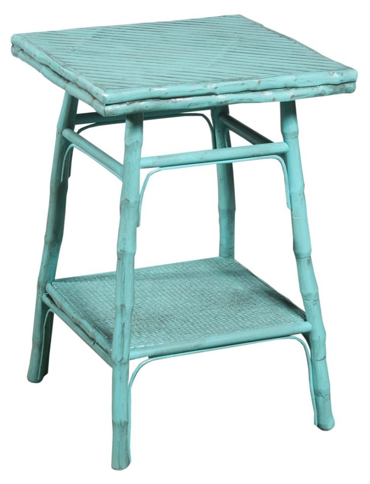 Pearl Square Table, Turquoise