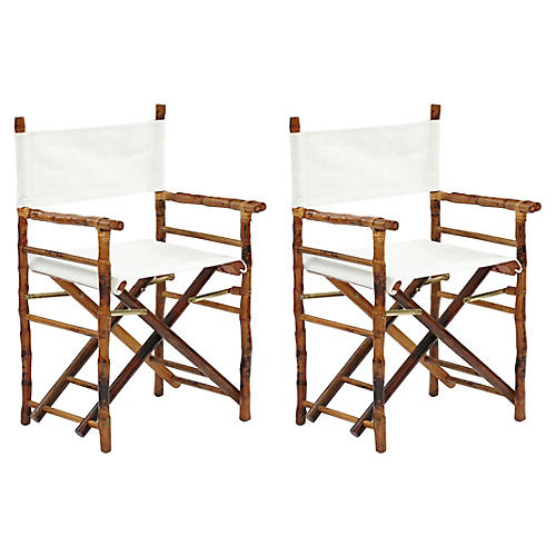Tortoise Farr Director's Chairs, Pair