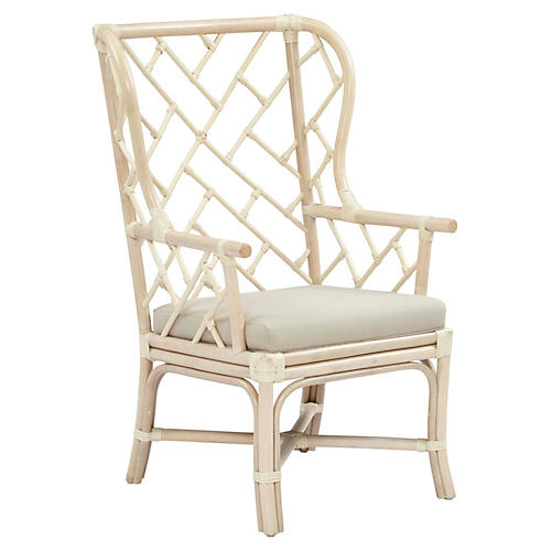 Francis Wingback Chair, Taupe
