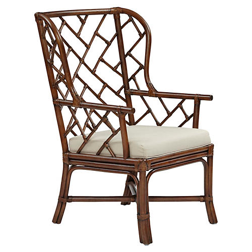 Francis Wingback Chair, Cocoa