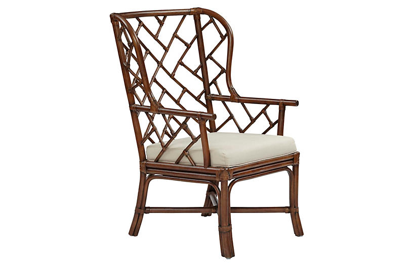 Francis Wingback Chair - Cocoa