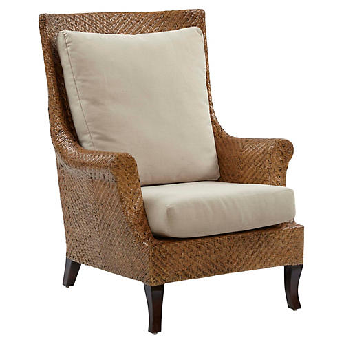 Beverly Accent Chair, Sand/Natural
