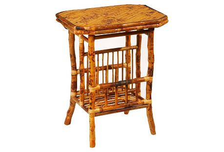 Bamboo Side Table, Tortoise