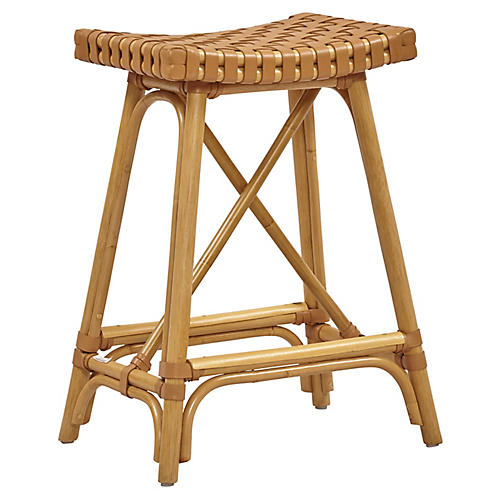 Mol Rattan Counter Stool, Natural