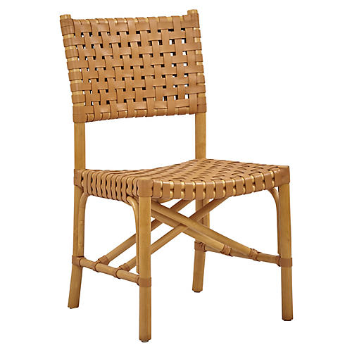 Muli Rattan Side Chair, Natural