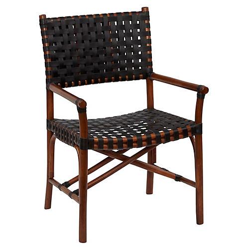 Muli Rattan Armchair, Cocoa/Black