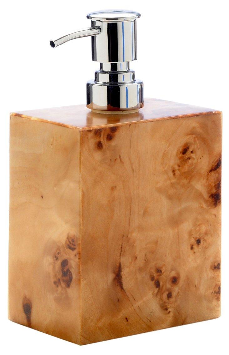Burl Wood Soap Pump