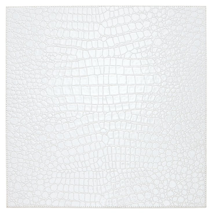 S/4 Glossy Croco Square Place Mats