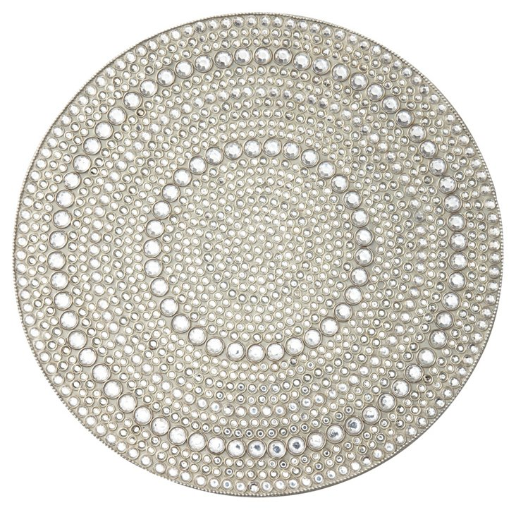 S/4 Mirage Place Mats, Silver