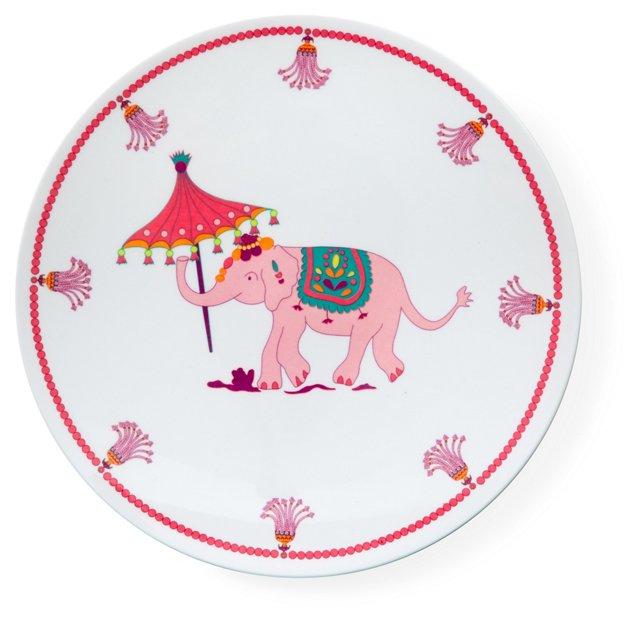 S/4 Melamine Elephant Dinner Plates