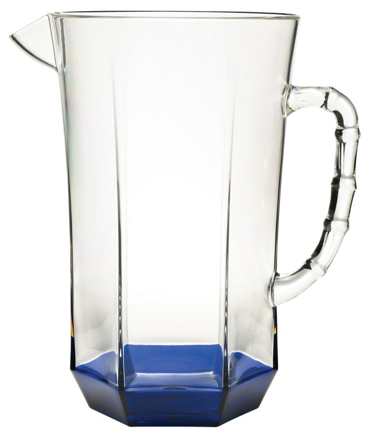 Acrylic Faceted Pitcher, Blue