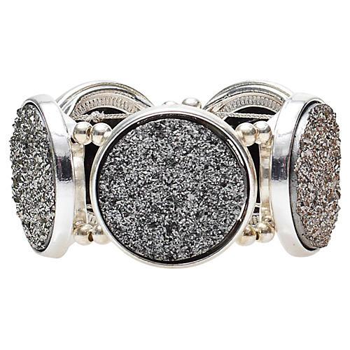 S/4 Harlequin Napkin Rings, Platinum