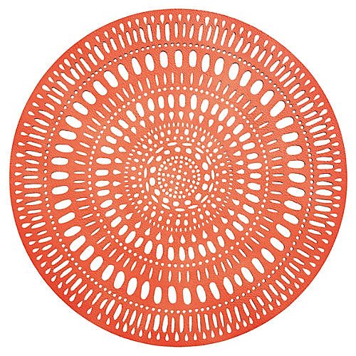 S/4 Fiesta Place Mats, Orange/Pink