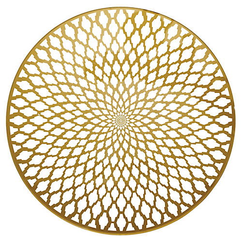 S/4 Souk Place Mats, Gold