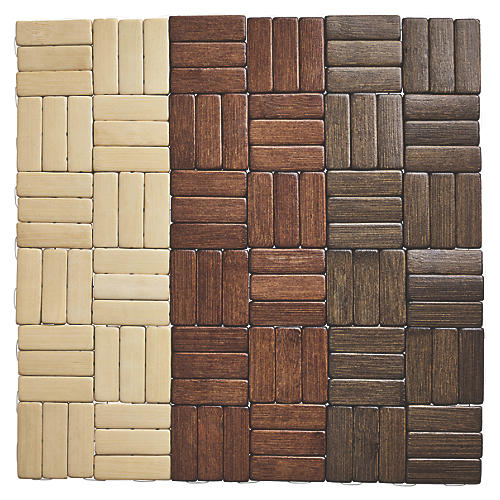 S/4 Jengaa Place Mats, Brown/Beige