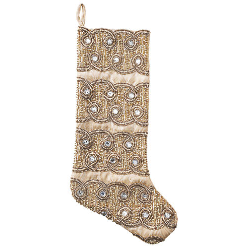 "19"" Sparkle Stocking, Champagne"