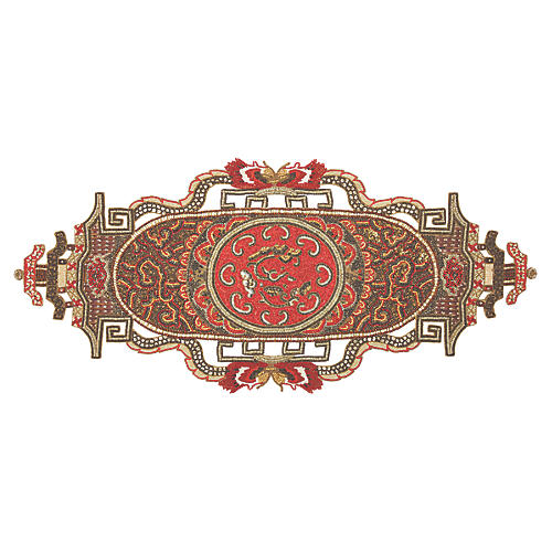 Dynasty Table Runner, Coral/Multi
