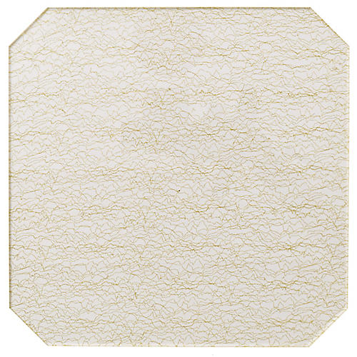 S/4 Filament Place Mats, Clear/Gold