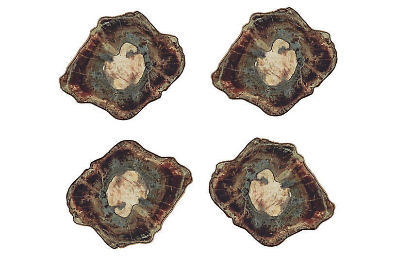 S/4 Fossil Coasters, Natural/Multi