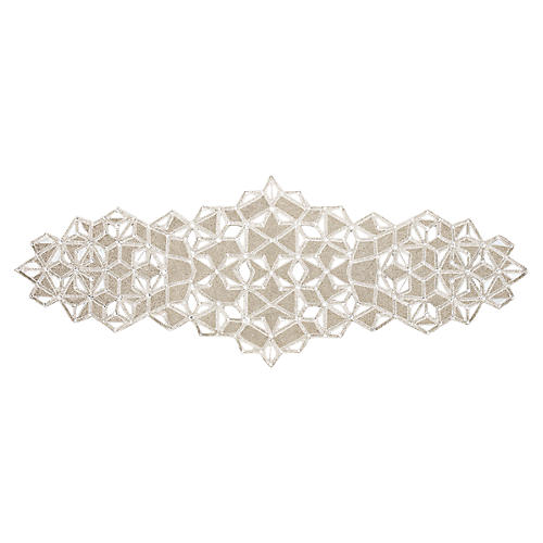 Frozen Table Runner, Silver/Crystal