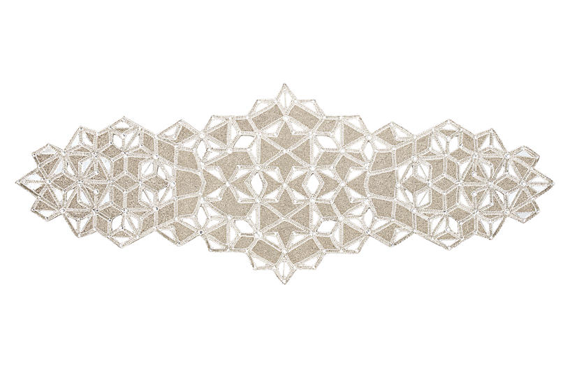 Frozen Table Runner - Silver/Crystal - Kim Seybert
