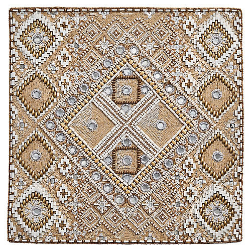S/4 Luxor Place Mats, Natural/Multi