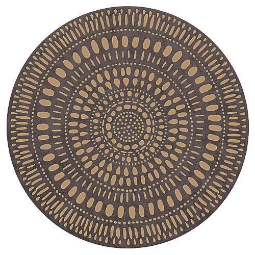 S/4 Mandala Place Mat, Taupe/Tan