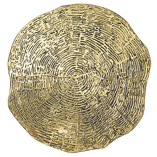 S/4 Timber Coasters, Gold