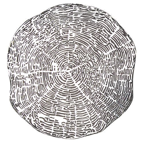 S/4 Timber Coasters, Silver