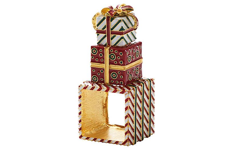 Set of 4 Wrapped Napkin Rings - Red - Kim Seybert