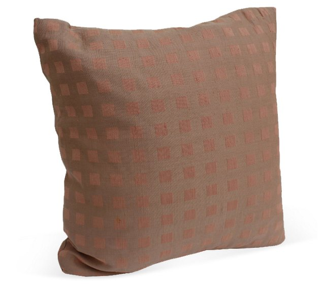 Pink Square Patterned Pillow