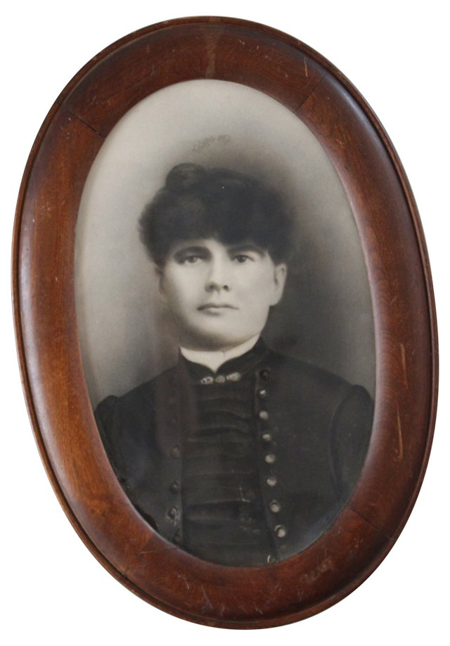 Framed Antique Photo Portrait