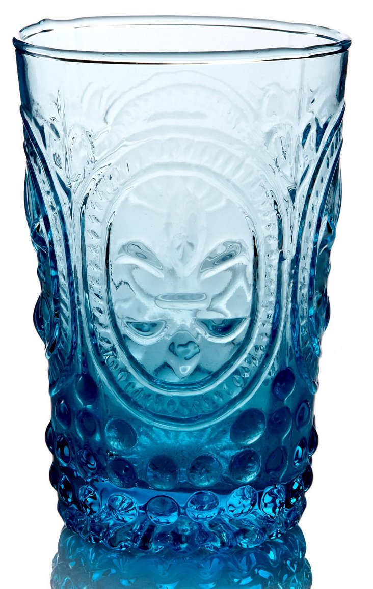 S/4 Amelie Highball Glasses, Blue