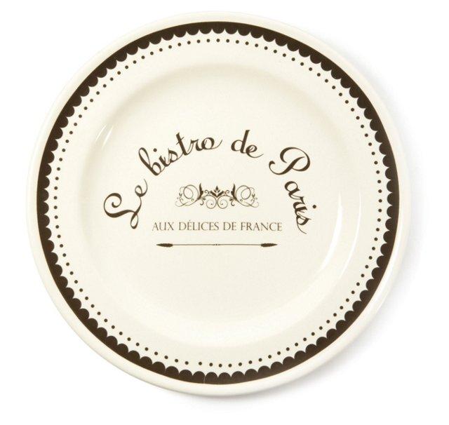 S/4 Parisian Dessert Plates