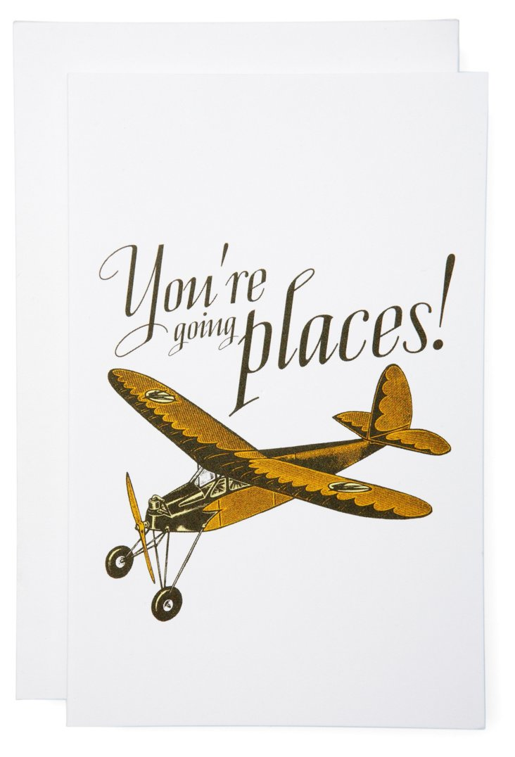 S/6 You're Going Places Cards