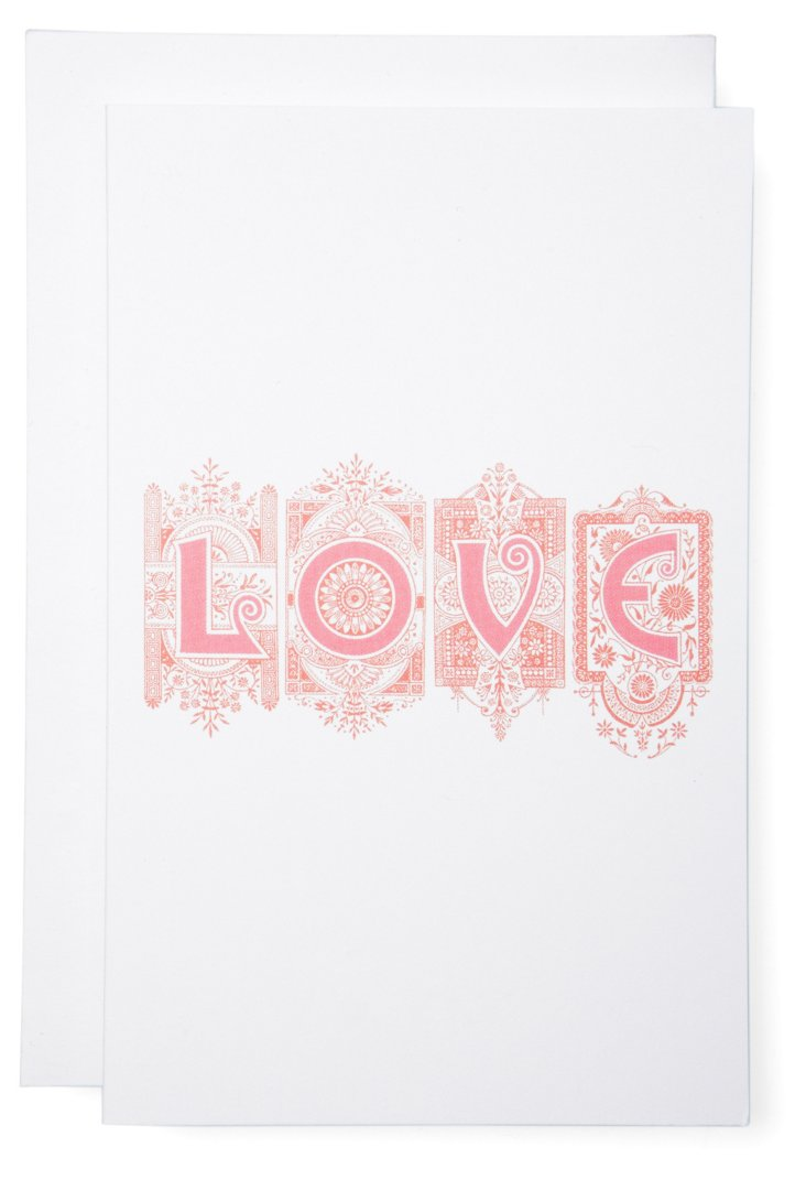 S/6 LOVE Cards, Pink